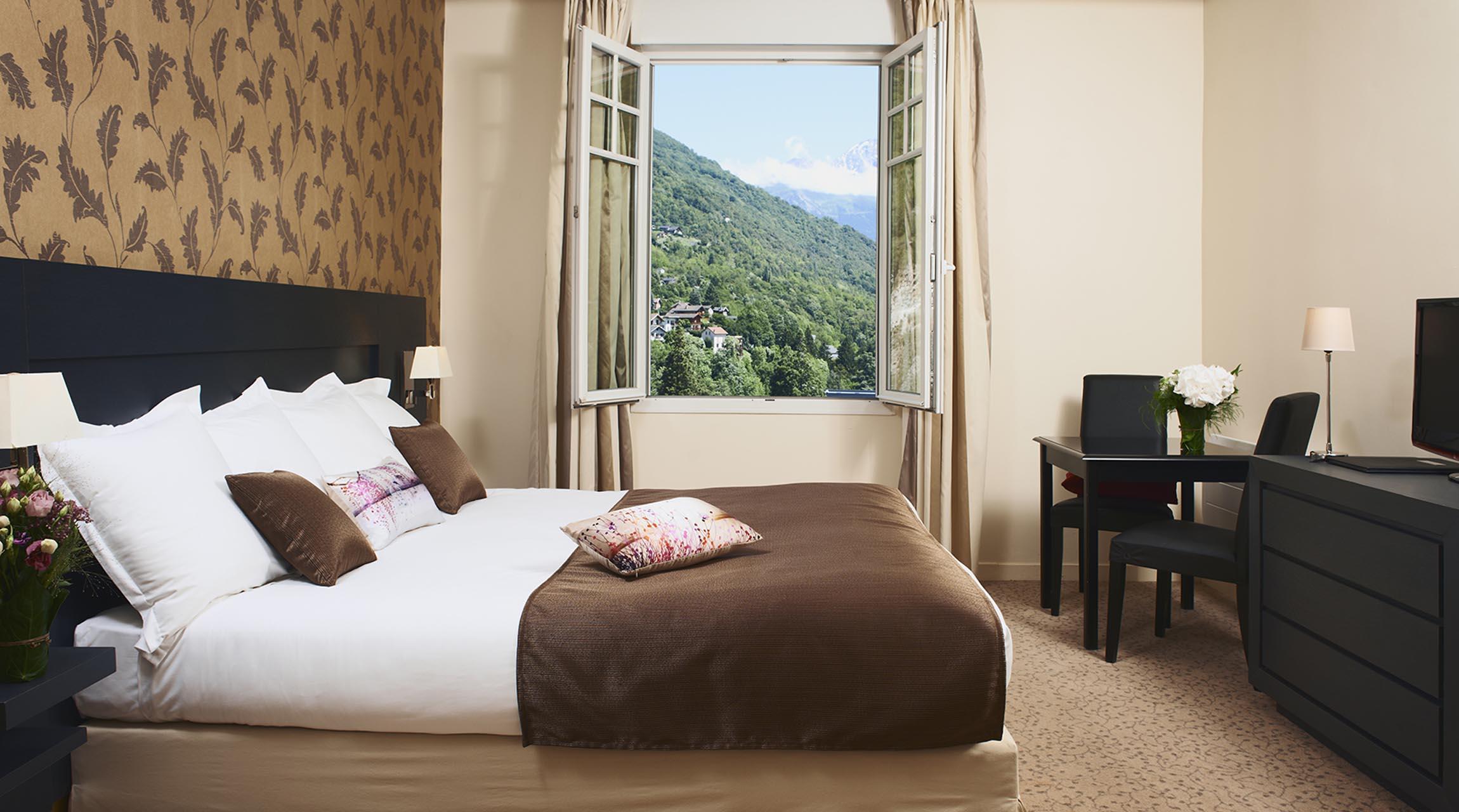 Chambres & suites   site officiel golf hôtel brides les bains